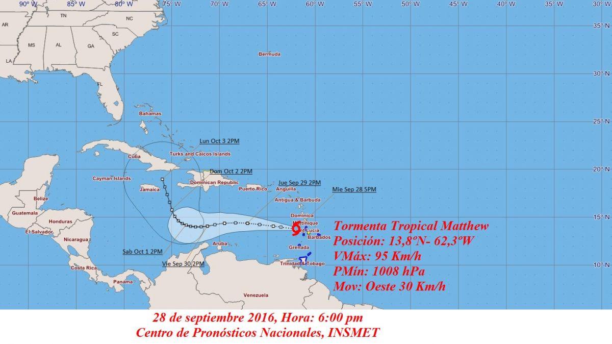 Huracán Matthew alcanza categoría 4 y amenaza a Colombia y Venezuela