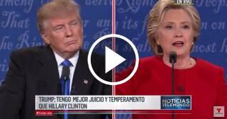 El debate presidencial Hillary Clinton vs Donald Trump (COMPLETO EN ESPAÑOL)