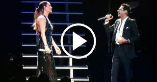 Jennifer López acompañó a Marc Anthony en el tema 'No me ames'