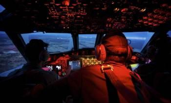 Cabina de un Avión (imagen de archivo)