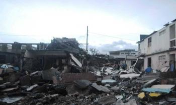 Baracoa destruida tras el paso del ciclón Matthew