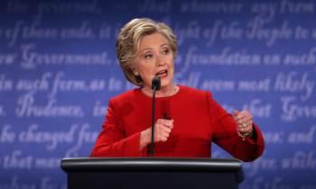 Hillary en el primer debate