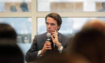 José María Aznar en su intervención en un foro de Miami