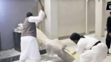 Yihadistas de ISIS destruyen estatuas milenarias en Iraq