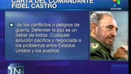 Fidel Castro: No confío en la política de EEUU ni he cruzado una palabra con ellos