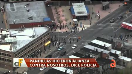 Se intensifica la violencia en Baltimore