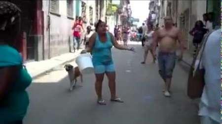Tiran agua, huevos y basura a Damas de Blanco en La Habana