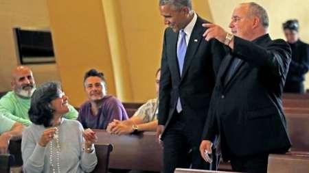Obama ofrece sus respetos a los cubano-americanos que rezan a la Caridad del Cobre