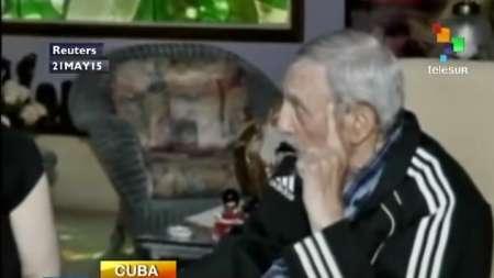 Fidel Castro recibe a otro presidente en su casa