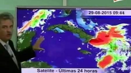 El parte del tiempo con José Rubiera - Onda Tropical Érika en Oriente y fuertes lluvias para toda la isla