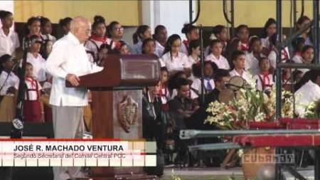 """José R. Machado Ventura: """"Santiago continúa siendo rebelde y heroica"""""""
