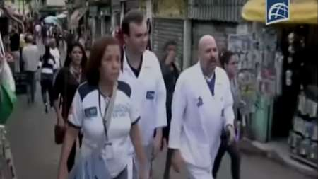 Médicos cubanos en las favelas de Rio de Janeiro en Brasil