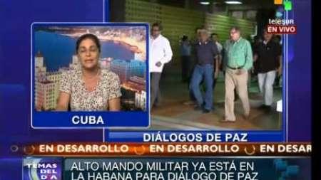 Llegan militares colombianos a Cuba para participar en Diálogos de Paz