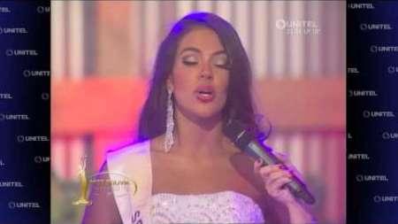 Las extrañas respuestas en la final de Miss Bolivia