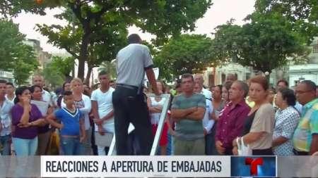Reacciones a la reapertura de embajadas en EEUU y Cuba