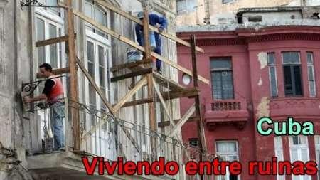 Cubanos protestan por el crítico problema de la vivienda en Cuba
